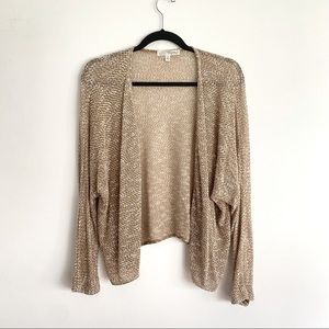 Say What Speckled Knitted Cardigan Tan Size S